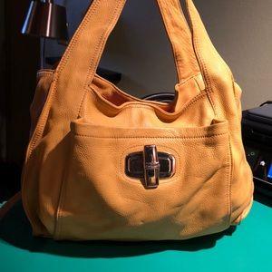 B. Makowsky Yell was Leather Large Shoulder Bag